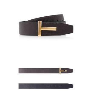 Tom Ford reversible t belt (black + tan)
